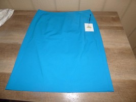 $79.00 Calvin Klein Pencil Skirt, Cerulean Blue, Size 14 - $34.65
