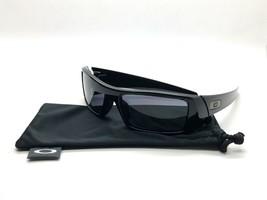 Neu Oakley Sonnenbrillen Gascan Poliert Schwarz Graue Linse 60mm 03-471 - $77.63