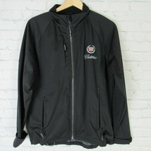Cadillac Jacket Womens Medium M Black Soft Shell Full Zip By Elevate - $73.82