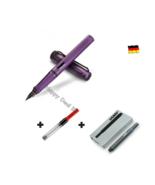 Lamy Safari Purple Fountain Pen F Nib with Free Converter + 5 black T10 ink - $26.17