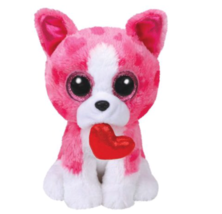 "TY Beanie Boos Valentine's ROMEO Pink Dog 36864 Small 6"" Plush Toy NWT - $17.81"
