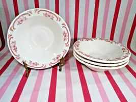 VTG Homer Laughlin Steelite International RED American Rose 4pc Grapefruit Bowls - $30.00