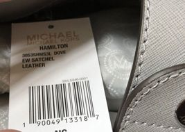 MICHAEL KORS HAMILTON DOVE GRAY SAFFIANO LEATHER EW SATCHEL BAG *NWT* 30S3SHMS3L image 9