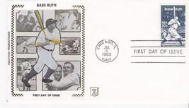 BABE RUTH #2046 CHICAGO, IL JULY 6, 1983 AQUARIAN Z SILK CACHET D-146 - ₹228.14 INR