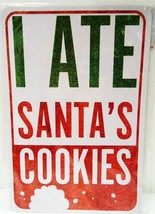 HOME ELEMENTS - SANTA CLAUS - 2-SIDE - FUNNY - STREET - SIGN - RED - WHI... - $6.29
