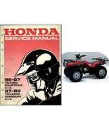 86-89 Honda TRX350 Fourtrax / TRX350D Foreman Service Repair Manual CD - TRX 350 - $12.00