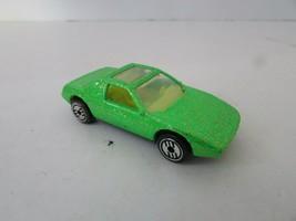 MATTEL HOT WHEELS DIECAST CAR 1984 GREEN SPARKLE PAINT YELLOW INT. MALAY... - $3.87