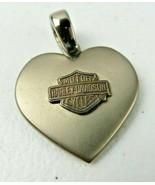 Vintage Harley Davidson Motorcycle Titanium 925 Heart Pendant Charm Neck... - $45.00