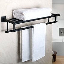 Alise GZ8000-B Bathroom Lavatory Towel Rack Towel Shelf with Two Towel B... - $69.57