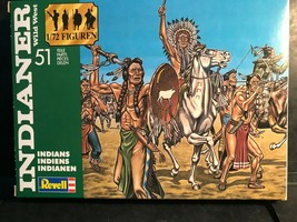 REVELL 1/72 WILD WEST  PLASTIC  INDIANS & COWBOYS 2554 & 2555 GERMANY 1... - $27.00