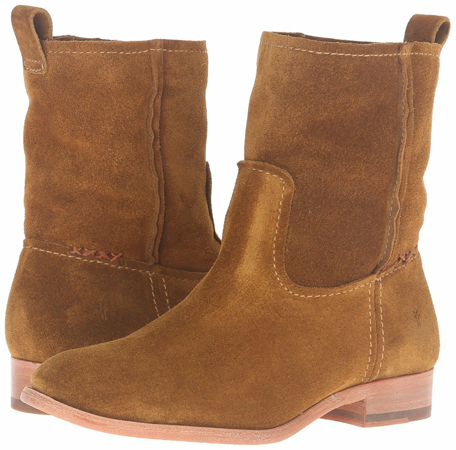 NEW FRYE Women's Wheat Brown Suede Leather Short Cara Boots 3478321-WHE NIB
