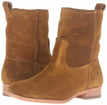 NEW FRYE Women's Wheat Brown Suede Leather Short Cara Boots 3478321-WHE NIB image 1