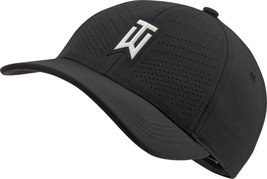 NEW! NIKE [M/L] Adult TW AeroBill Tiger Woods Heritage86 Golf Cap-Black ... - $64.34