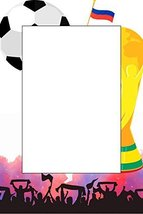 Crowd Cheering 2018 World Cup Football Selfie Frame Poster - £12.72 GBP