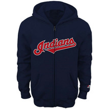Boy's 8-18 Cleveland Indians Hoodie Wordmark Full Zip Sweatshirt MLB Baseball