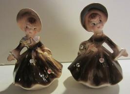 Vintage Enesco Golden Girls Trio set Salt & Pepper Shakers & Bell - $46.22