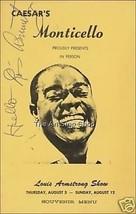 Louis Armstrong autograph photo print - $3.85