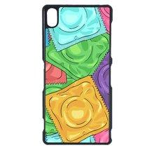 Condom Sony C4 case Customized premium plastic phone case, design #6 - $11.87