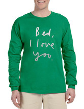 Men's Long Sleeve Bed I Love You Funny Humor Saying - $14.94+