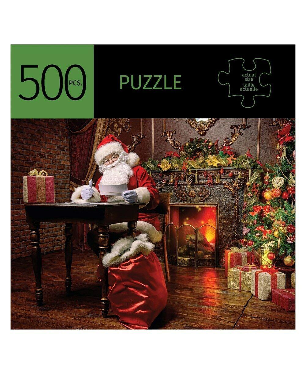 """Santa Design Jigsaw Puzzle 500 pc  28"""" x 20"""" When Complete Durable Fit Pieces"""