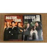 Boston Legal Season 1 & 2 Sealed dvd lot television show lawyers tv - $16.50