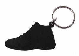 Good Wood NYC Bred 11 Black Sneaker Keychain Blk/Red XI Shoe Key Ring Key Fob image 2