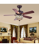 Ceiling fan with Tiffany-style Bowl 3-light 42-inch Fan Living Room Bedr... - $325.00