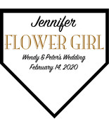 Flower Girl Large Home Plate Plaque Wedding Gift - Personalized Wedding ... - $59.95