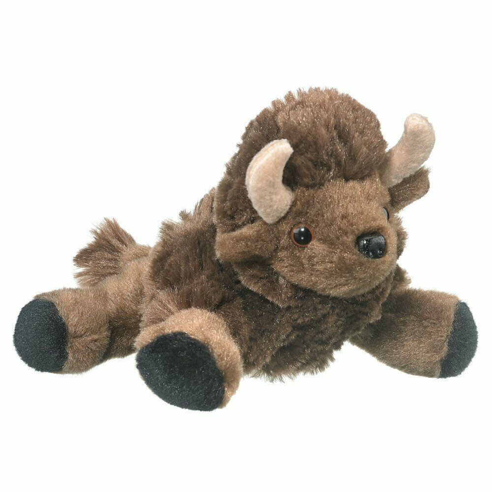 """Wildlife Artists Bison Plush Finger Puppet Toy, 7"""" Bison Play Critters..."""