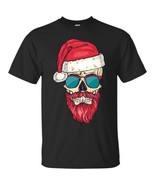 Skull Santa T Shirt Christmas Rock Metal Funny Novelty Dope Tumblr Zombi... - $20.74+