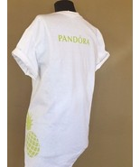 PANDORA JEWELRY T-SHIRT LIMITED EDITION WHITE SUMMER CAMPAIGN PINAPPLE - $16.75