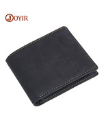 wallet men vintage genuine leather men s purse thin mini wallet male coin purse small thumbtall