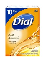 Dial Antibacterial Deodorant Bar Soap Gold 4-Ounce Bars 10 Count  - $15.75