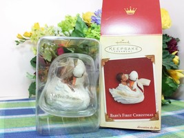 Hallmark Baby's First Christmas 2005 Baby with Swan ornament - $7.99