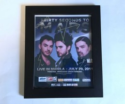 Signed Autographed Thirty Seconds to Mars Photo Manila Philippines Jared... - $7.99