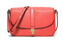 NWT MICHAEL KORS PINK GRAPEFRUIT CHARLTON LEATHER SMALL CROSSBODY  - $97.50