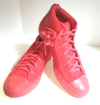 Converse Chuck Taylor All Stars Red Monochrome High Top Men 13 Women 15 Sneakers - $27.88