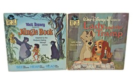 Walt Disney Story of Lady and the Tramp and Jungle Book Read Along Vinta... - $14.58