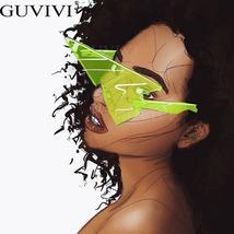 Rimless Punk Sunglasses Women Luxury Brand Sun Glasses Female Eyewear Triangle R image 2