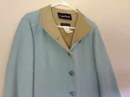 Louis Feraud Finition Main Baby Blue Blazer Jacket Made in Italy No Size Tag image 4