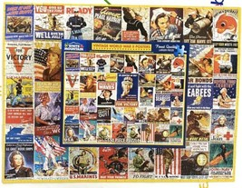 White Mountain 550 Piece Puzzle Vintage World War II WWII Posters Mark K... - $34.39