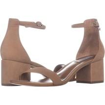 Steve Madden Irenee Heeled Ankle Strap Sandals 720, Tan, 9.5 US - $23.99