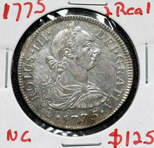 1775 SILVER 2 REALES Coin Carolus III Lot# A 584 - $112.20