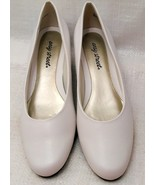 Easy Street Womens Closed Toe Classic Pumps, White, Size 10N - $12.00