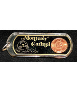 Monterey Carmel California Walrus Lucky Penny 1994 One Cent Key Chain Ring - $9.09