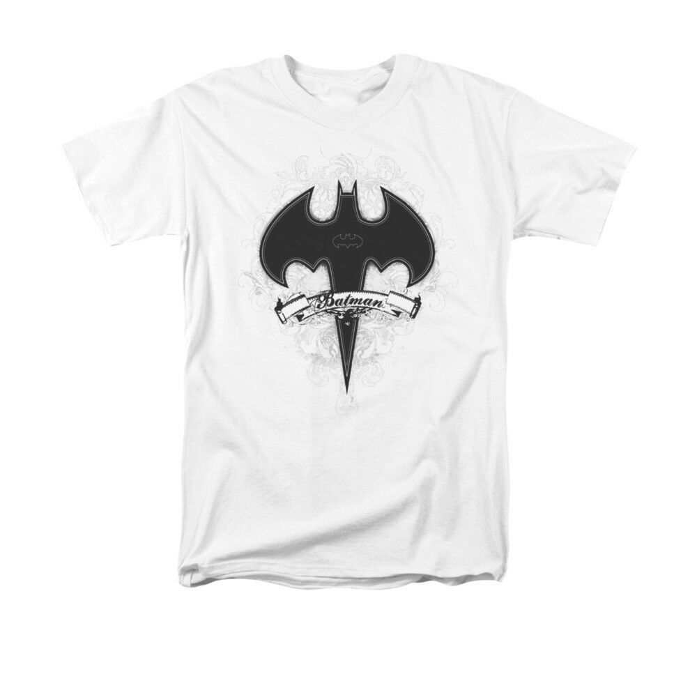 BATMAN GOTHIC GOTHAM  T SHIRT  DC comics superhero graphic 100% cotton tee WHITE