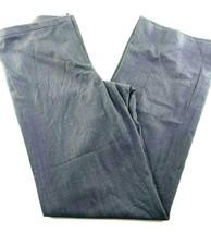 "Calvin Klein Flat Front Gray Full Straight Leg Pants size 6 30x33"" - $19.75"