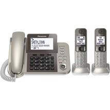 Office Landline Phone, Panasonic 2-handset Combo Home Desk Corded Phone ... - $143.99