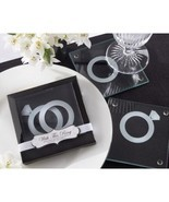 60 With This Ring Glass Coaster sets wedding favors favor - $80.00