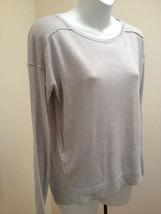 Ann Taylor Loft XS Sweater Gray Exposed Seam Long Sleeve Top New - $23.50
